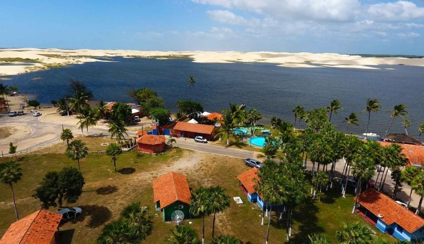 Lagoa do Portinho, tradicional cartão-postal do litoral do Piauí