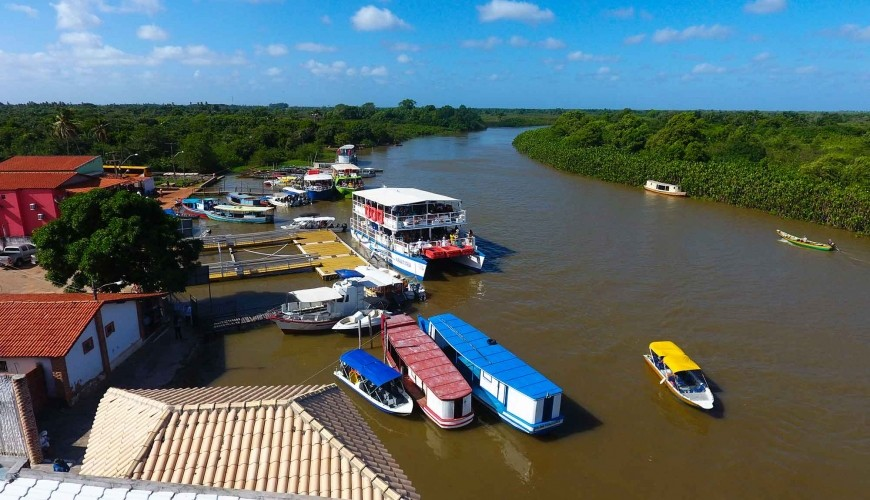 Porto dos Tatus no município de Ilha Grande, porta de entrada do Delta do Parnaíba